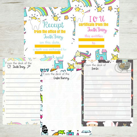 Kids' Holiday Letter Bundle