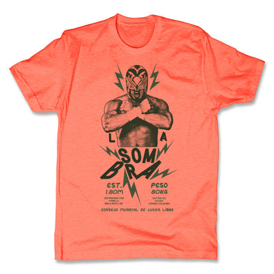 Lucha-Libre-La-Sombra-Urbana-Orange-Mens-T-Shirt