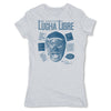 Lucha-Libre-Blue-Panther-Cover-Grey-Womens-T-Shirt