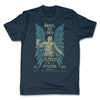 Lucha-Libre-Angel-De-Oro-Urbana-Blue-Mens-T-Shirt