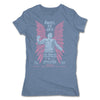 Lucha-Libre-Angel-De-Oro-Urbana-Blue-Womens-T-Shirt