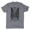 Lucha-Libre-Angel-De-Oro-Urbana-Grey-Mens-T-Shirt