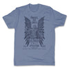 Lucha-Libre-Angel-De-Oro-Urbana-Light-Blue-Mens-T-Shirt