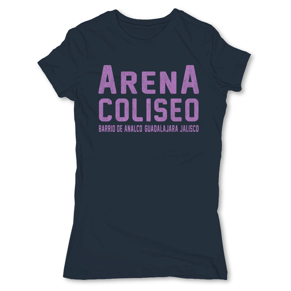 Lucha-Libre-Arena-Coliseo-Blue-Womens-T-Shirt