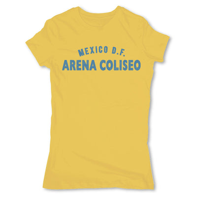 Lucha-Libre-Arena-Coliseo-DF-Yellow-Womens-T-Shirt