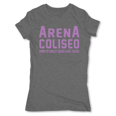 Lucha-Libre-Arena-Coliseo-Grey-Womens-T-Shirt
