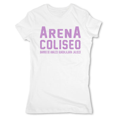 Lucha-Libre-Arena-Coliseo-White-Womens-T-Shirt
