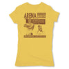 Lucha-Libre-Arena-Coliseo-Yellow-Womens-T-Shirt