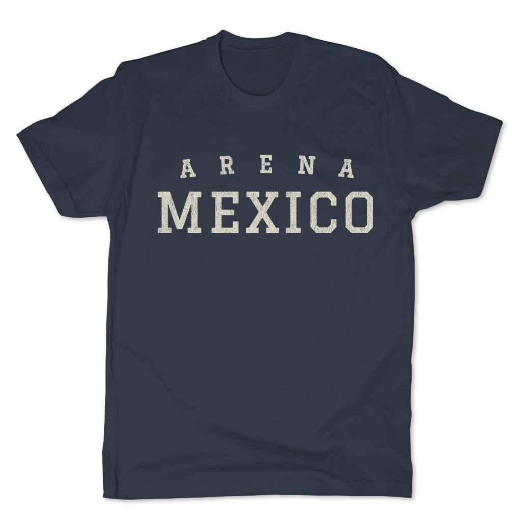 Lucha-Libre-Arena-Mexico-Blue-Mens-T-Shirt