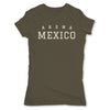 Lucha-Libre-Arena-Mexico-Green-Womens-T-Shirt