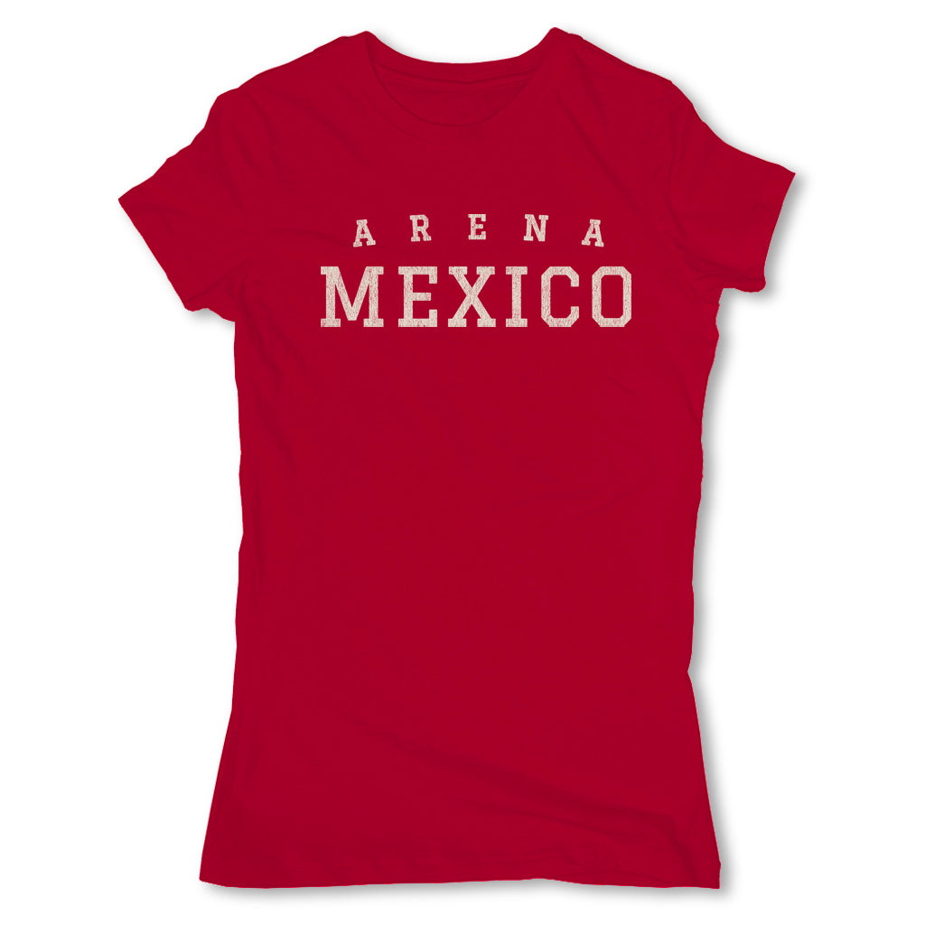 Lucha-Libre-Arena-Mexico-Red-Womens-T-Shirt