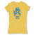 Lucha-Libre-Atlantis-Mask-Yellow-Womens-T-Shirt