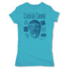 Lucha-Libre-Blue-Panther-Cover-Blue-Womens-T-Shirt