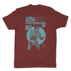 Lucha-Libre-Blue-Panther-Red-Mens-T-Shirt
