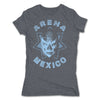 Lucha-Libre-Diamante-Azul-Estrella-Grey-Womens-T-Shirt