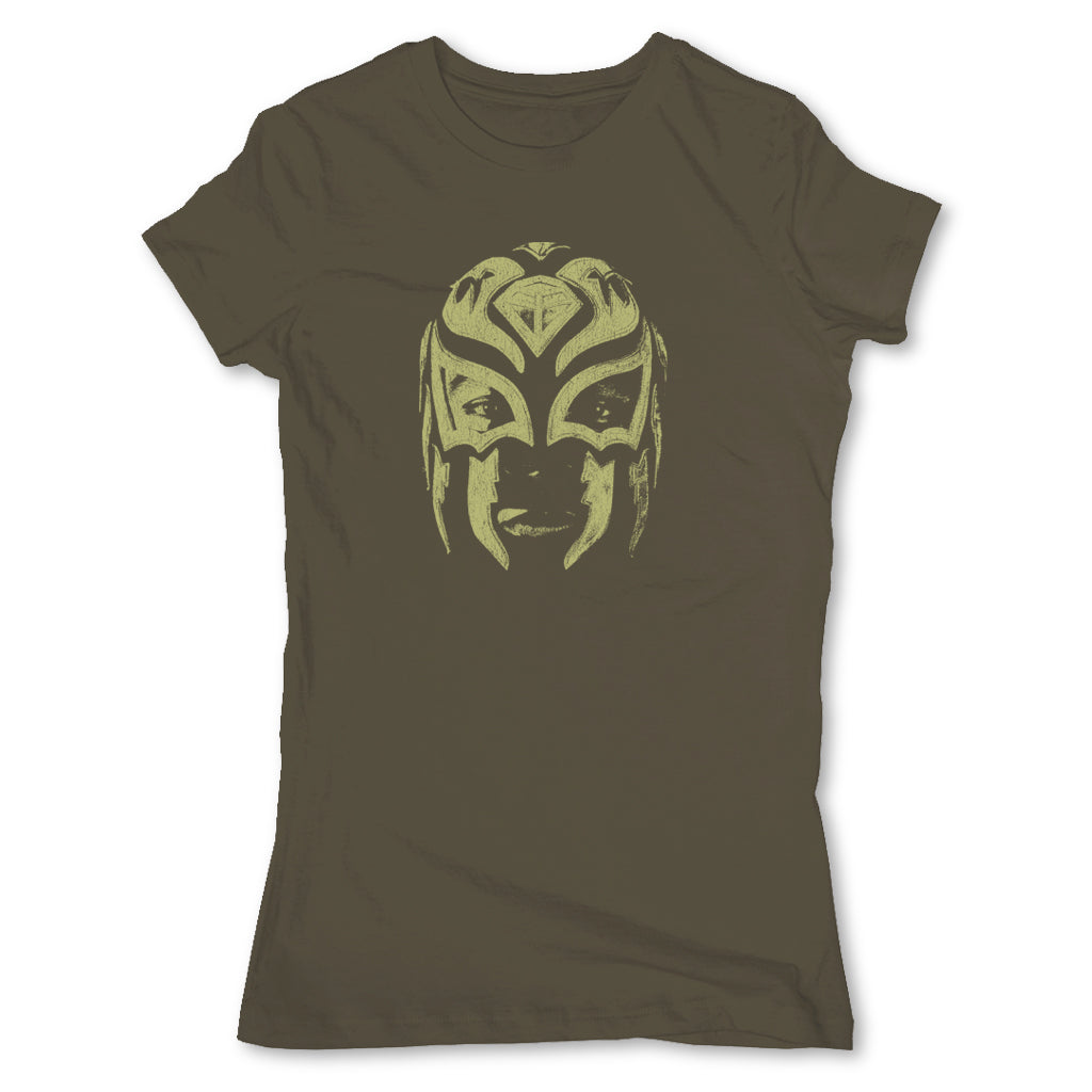 Lucha-Libre-La-Sombra-Mask-Green-Womens-T-Shirt