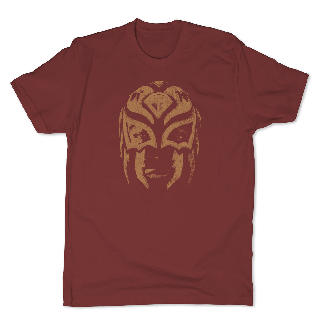 Lucha-Libre-La-Sombra-Mask-Red-Mens-T-Shirt