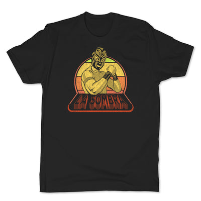 Lucha-Libre-La-Sombra-Retro-Black-Mens-T-Shirt