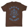 Lucha-Libre-Mephisto-Coliseo-Brown-Mens-T-Shirt