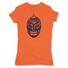 Lucha-Libre-Mephisto-Mask2-Orange-Womens-T-Shirt