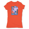 Lucha-Libre-Negro-Casas-Retro-Orange-Womens-T-Shirt