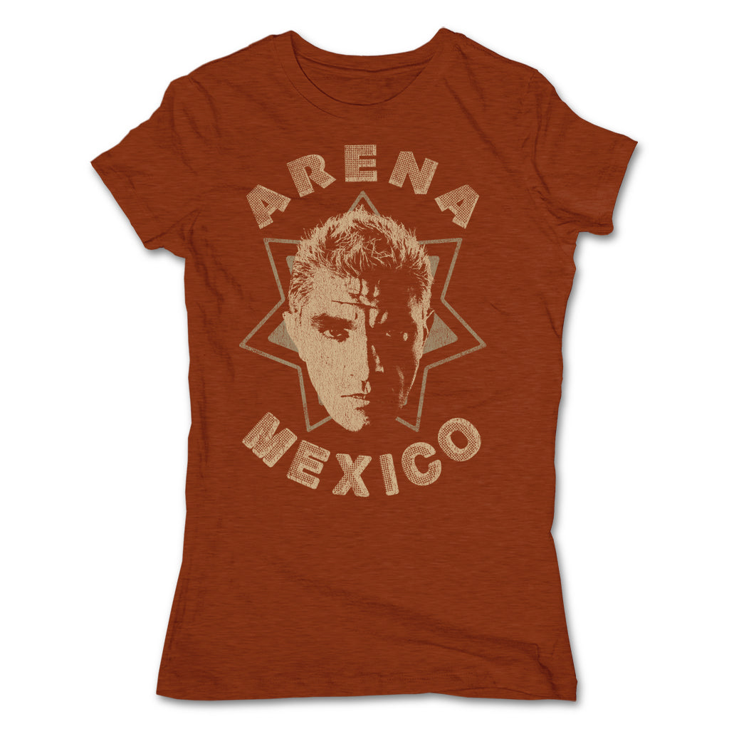 Lucha-Libre-Shocker-Estrella-Clay-Womens-T-Shirt