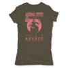 Lucha-Libre-Super-Porky-Green-Womens-T-Shirt