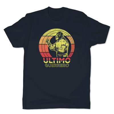 Lucha-Libre-Ultimo-Guerrero-Retro-Blue-Mens-T-Shirt