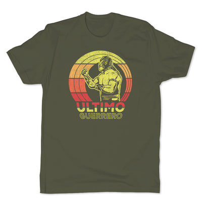 Lucha-Libre-Ultimo-Guerrero-Retro-Green-Mens-T-Shirt