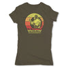 Lucha-Libre-Ultimo-Guerrero-Retro-Green-Womens-T-Shirt