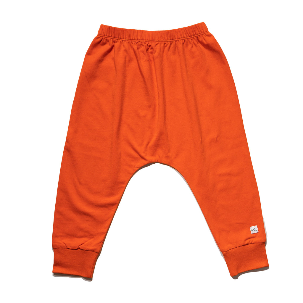 kids' knit jogger back in sunkist to match with mommy & me dress, daddy & me outfits.