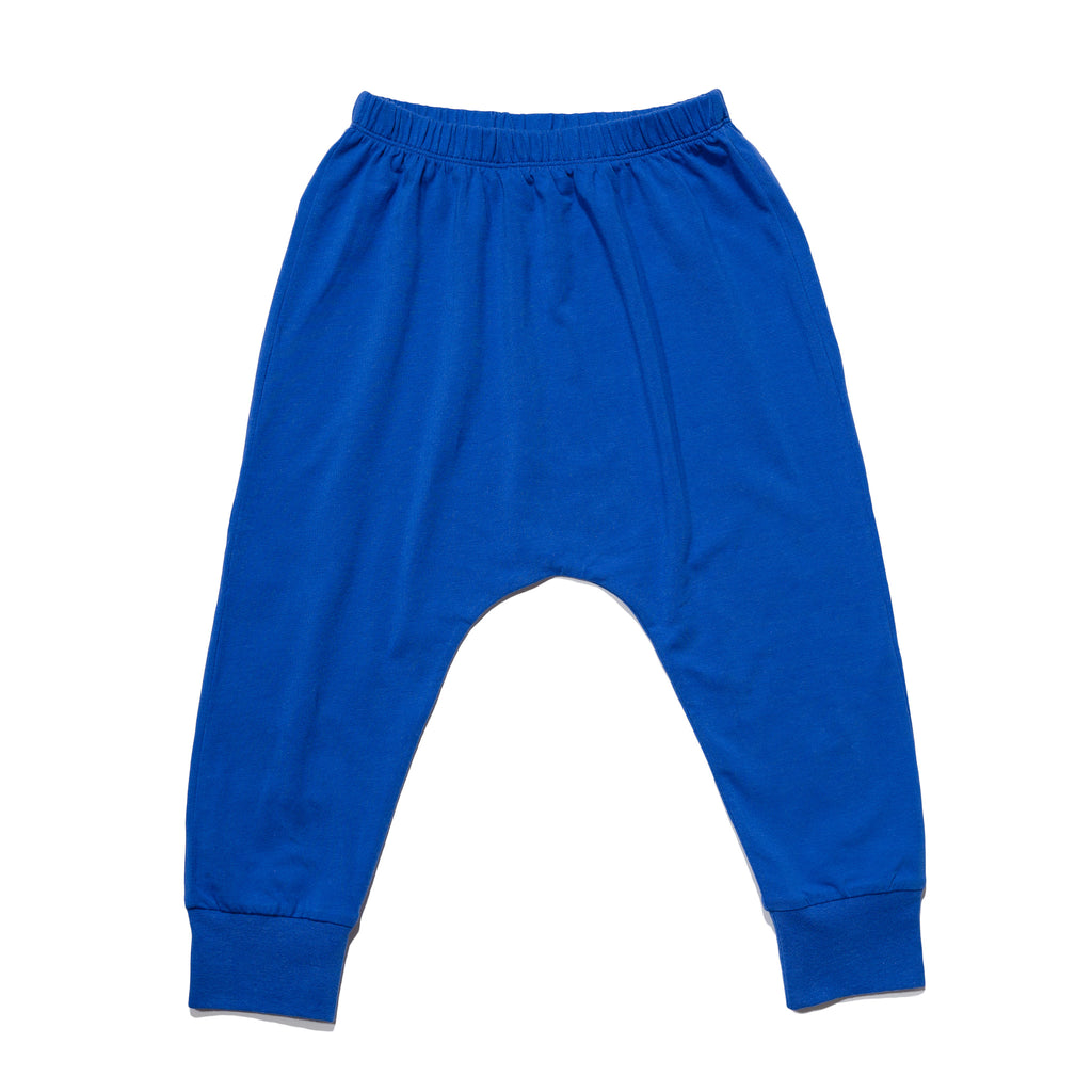 kids' knit jogger front in cobalt to match with mommy & me, daddy & me outfits.