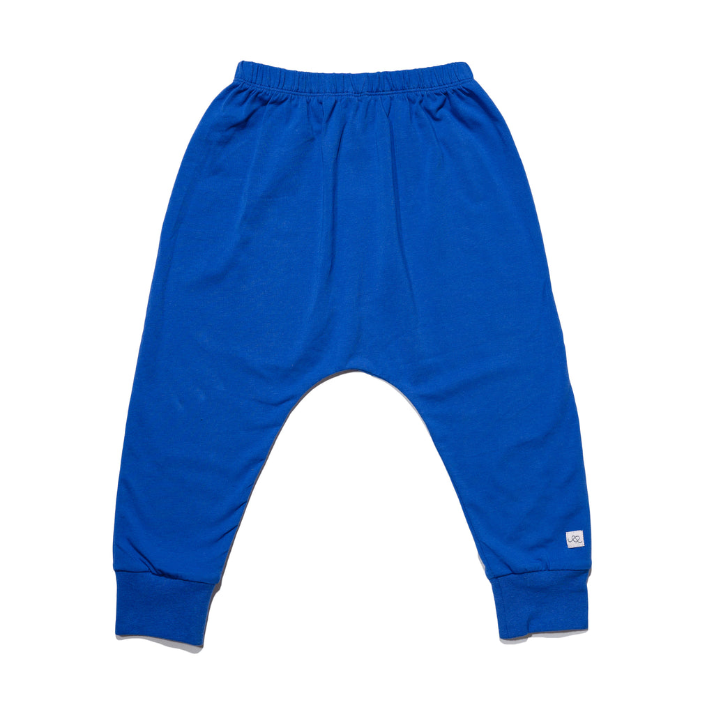 kids' knit jogger back in cobalt to match with mommy & me, daddy & me outfits.