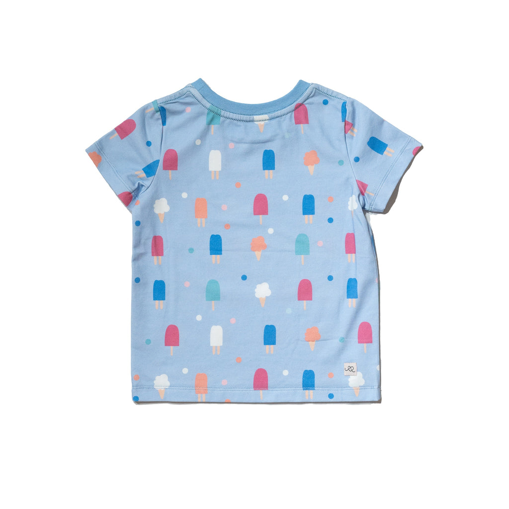 Sweets popsicles printed kids' cotton tee, gender neutral, colorful print, perfect summer tee by Anise & Ava.