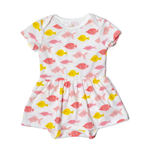 Charlie onesie dress | Fishes