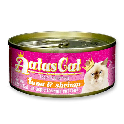 [5 Box @ $19 Each] Aatas Cat Tantalizing Tuna Series Canned Cat Food 80g