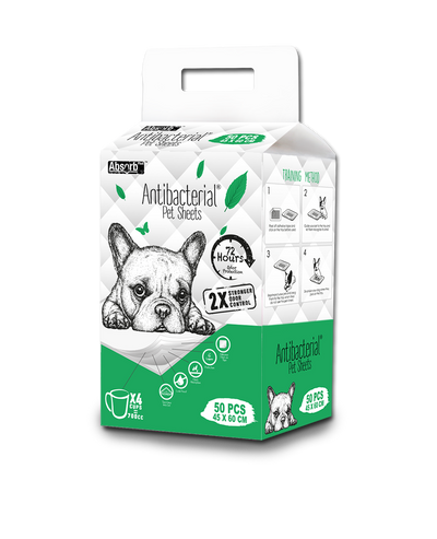 Absorb Plus Antibacterial Pet Sheets Pee Pad - Pet Glorys