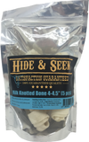 Hide & Seek Milk Knotted Bone Rawhide Dog Chews - Pet Glorys