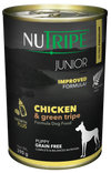 Nutripe Classic Chicken & Green Trip with GLM Canned Dog Food 390g
