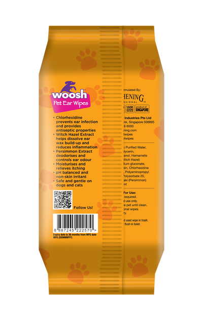 Woosh Pet Ear Wipes
