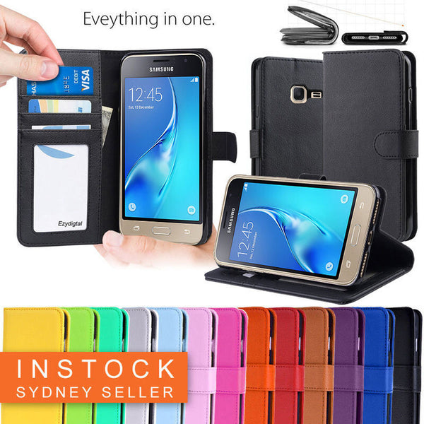 New Wallet Leather Case Cover For Samsung Galaxy J1 mini + Screen Protector