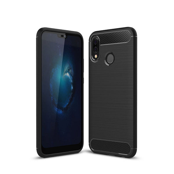 Slim Armor Protective Carbon TPU Case Back Cover For HUAWEI Nova 3E And 3I