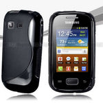 NEW Premium BLACK S CURVE GEL CASE COVER FOR Samsung Galaxy Pocket S5300 + SP