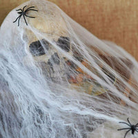 Stretchable Spider Web Spooky Halloween Party Ghost Decoration +2 Spiders Scary