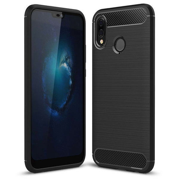 HUAWEI Nova 3e & 3i Shockproof Protective Carbon TPU Back Cover Anti Knock Case