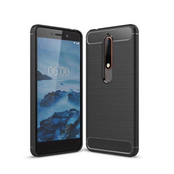 Anti Knock Shockproof Carbon TPU Case For NOKIA 6.1 5.1  5.1Plus 7.1 8.1