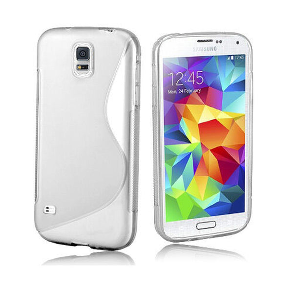 Clear S Gel TPU case cover for New Samsung Galaxy S5 mini