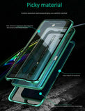 Magnetic Metal Bumper Double Tempered Glass F OPPO Reno Z 10x Zoom 5G Case Cover