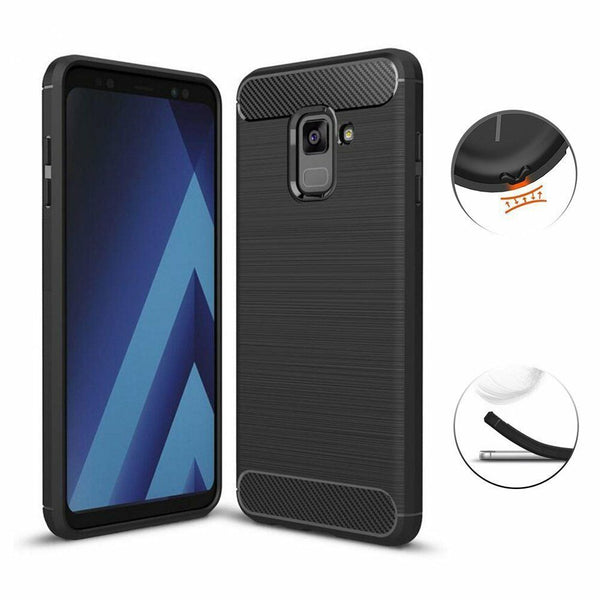 For Samsung Galaxy A8 A7 A6 2018 Shockproof Protective TPU Cover Anti Knock Case