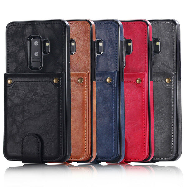 For Samsung Galaxy S9/ S9 Plus MAXCASE 2in1 Back Leather Wallet Flip Case Cover
